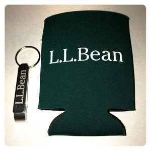 L.L. Bean Drink Coozie and Bottle Opener Keychain